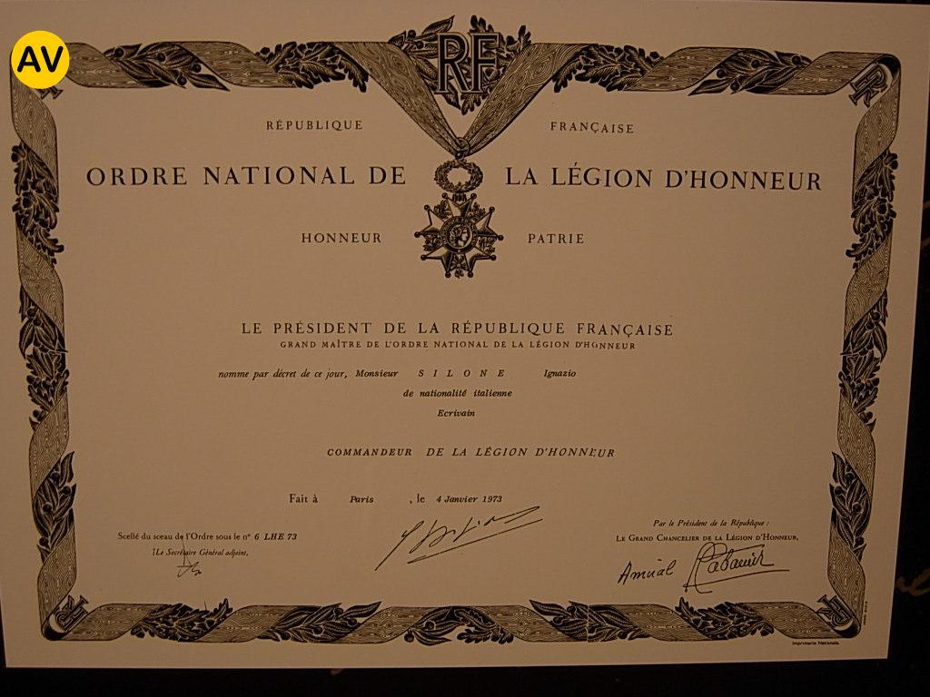 Silone_legione_d'onore