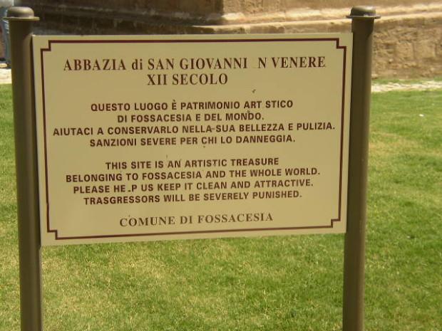 San Giovanni in Venere - Luoghi