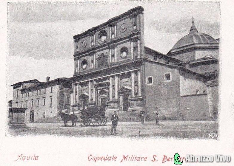 aquila-ospedale-militare1 Dai primi del 1900 alla fine degli anni 80 attraverso le cartoline illustrate