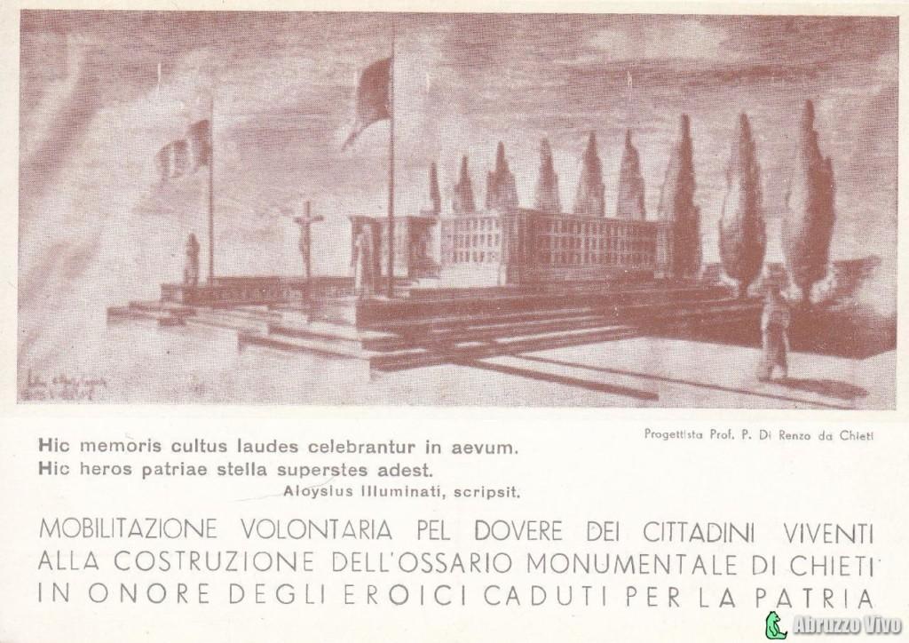 chieti-progetto-ossario1 Dai primi del 1900 alla fine degli anni 80 attraverso le cartoline illustrate