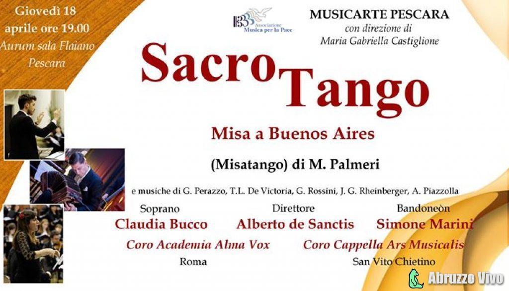 sacrotango SacroTango - Aurum Sala Flaiano Musicarte Pescara