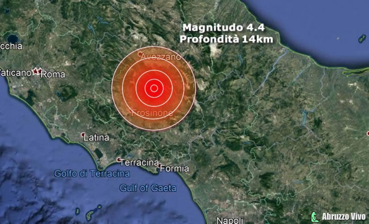 terremoto-abruzzo-lazio-2 Terremoto di magnitudo 4,4 tra Abruzzo e Lazio