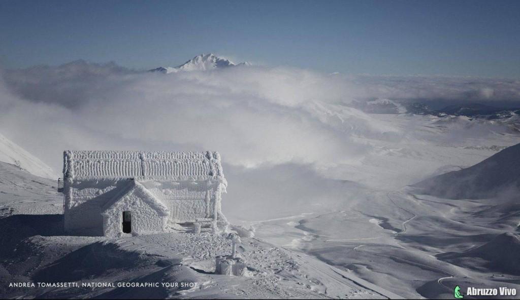 Il rifugio abruzzese congelato finisce sulla pagina del National Geographic - Territorio